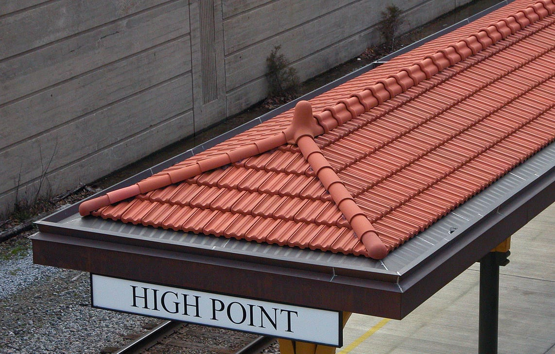 High Point Amtrak Station Ludowici Roof Tile