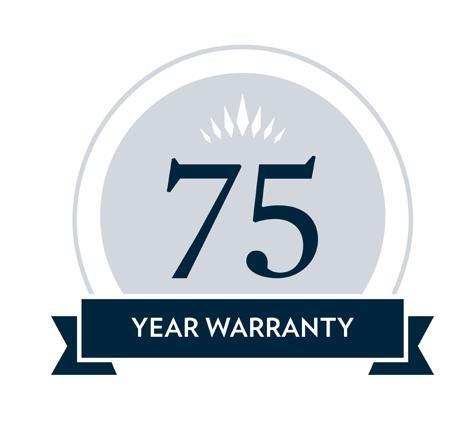 75 Year Material Warranty Logo
