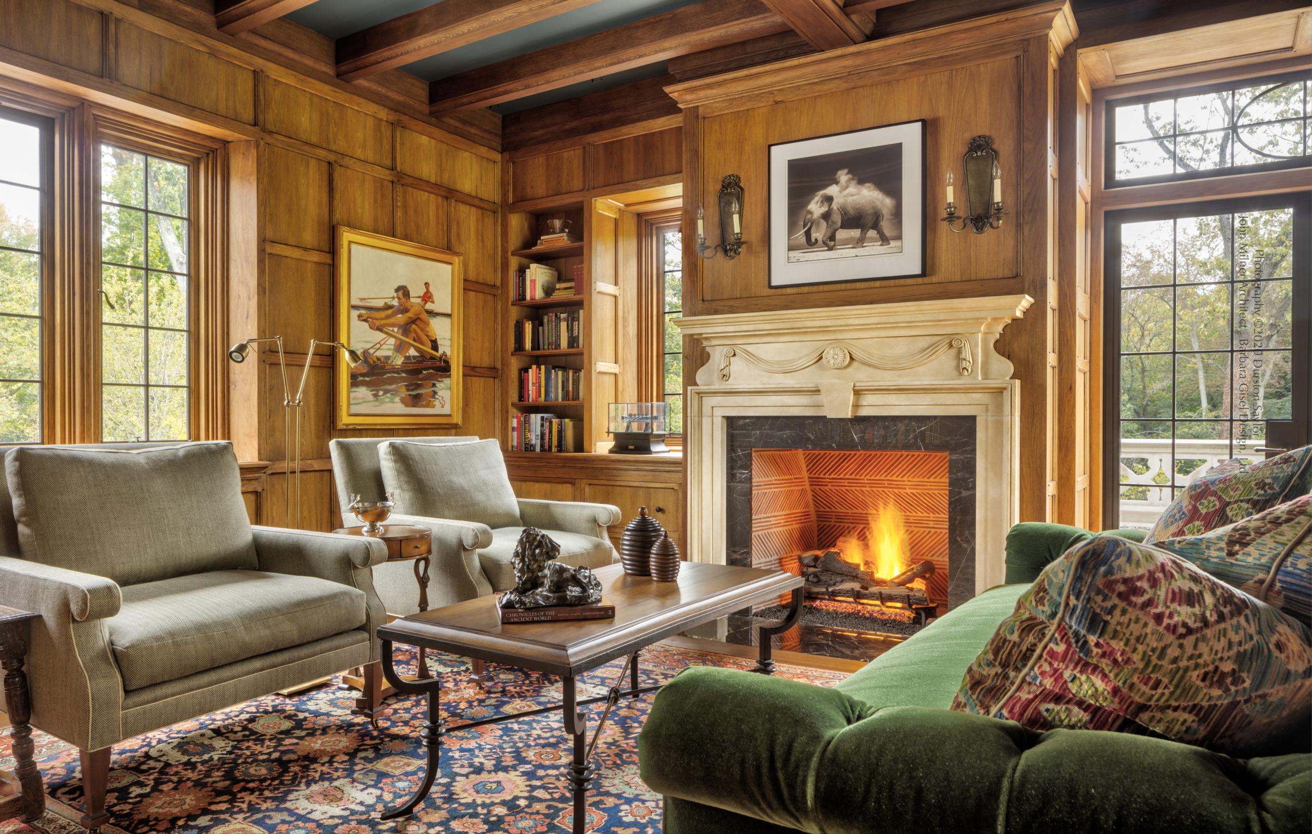 Fireplace Design Ludowici Roof Tile