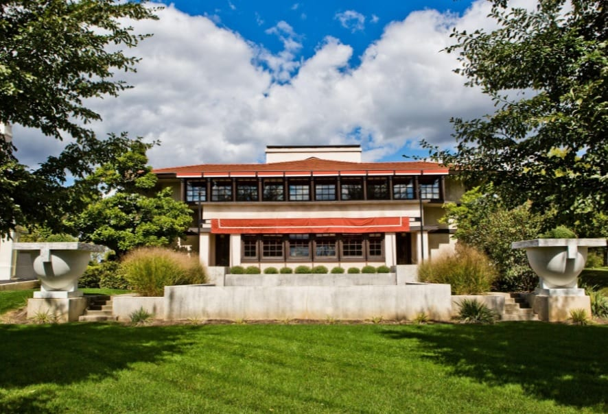 Frank Lloyd Wright House Shows off Red Ludowici Roof