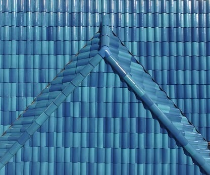 Mediterranean Blue Two-Spray Tile Color