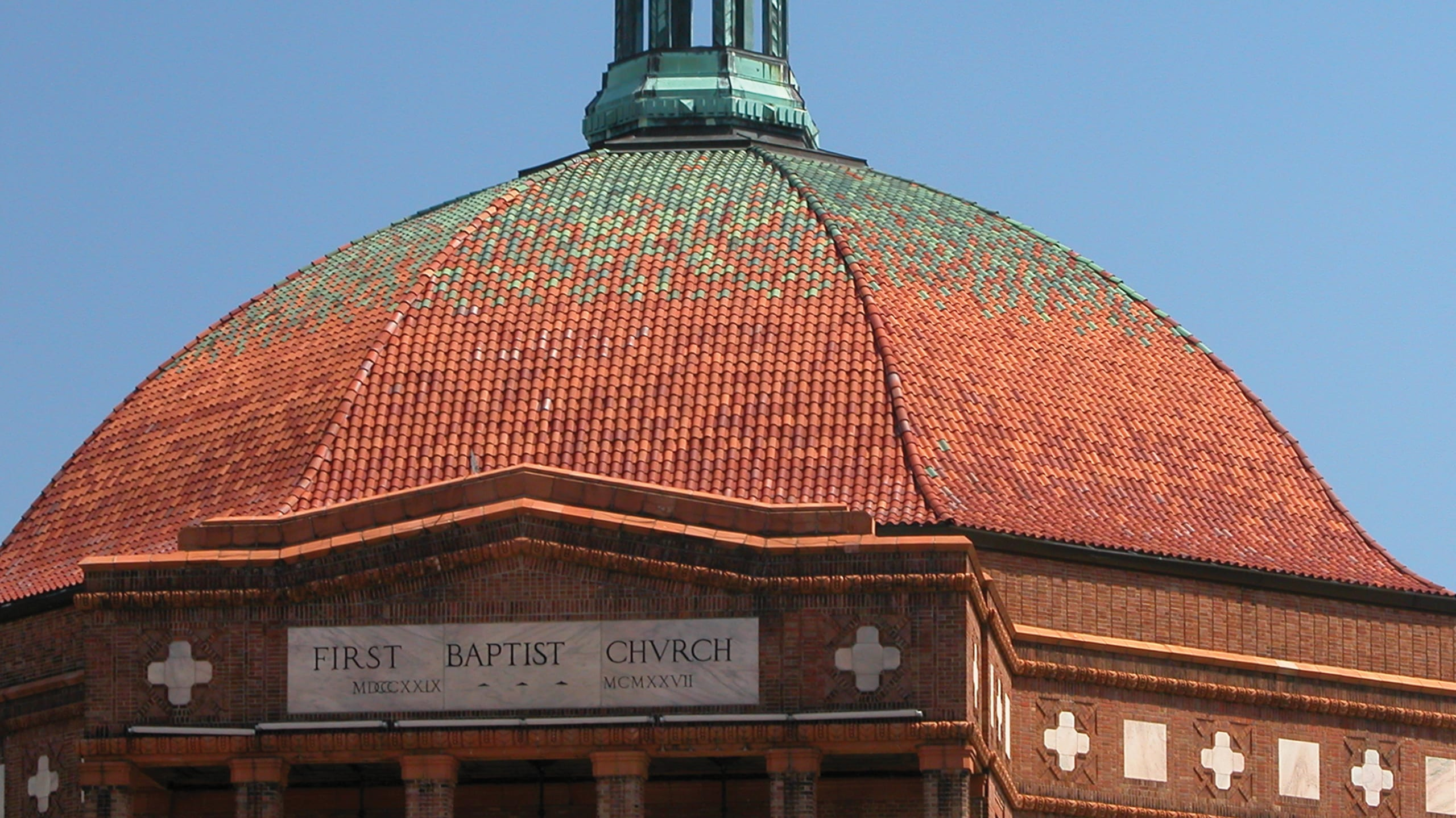 First Baptist Church Ludowici Roof Tile